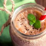 chocolate smoothie mason jar
